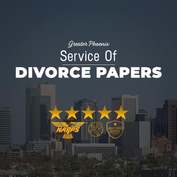 Serving Divorce Papers in Phoenix AZ by ASAP Serve, LLC